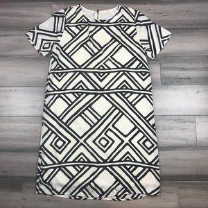Anthropologie Everly Small Black & White Dress